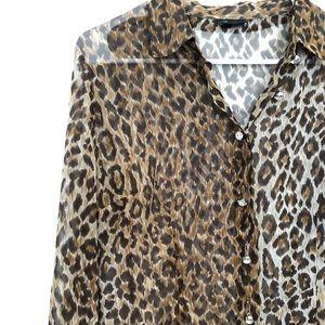 Dolce & Gabbana sheer leopard blouse